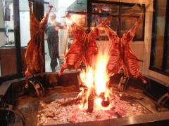 Grilling lamb