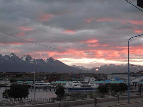 Sunset, Ushuaia harbot