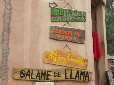 Salame made with llama meat, in Purnamarca, Jujuy, AR